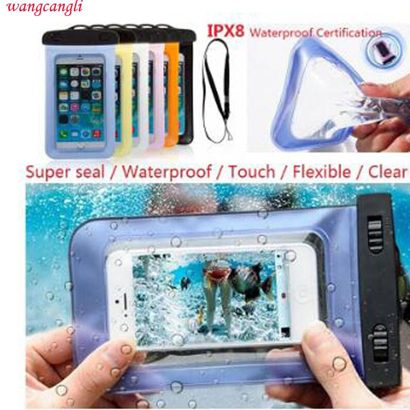 Wangcangli Waterproof mobile phone bag for iPhone 6 7plus 5 5s 4s for Samsung Galaxy s7 s6 s5 s4 waterproof phone case