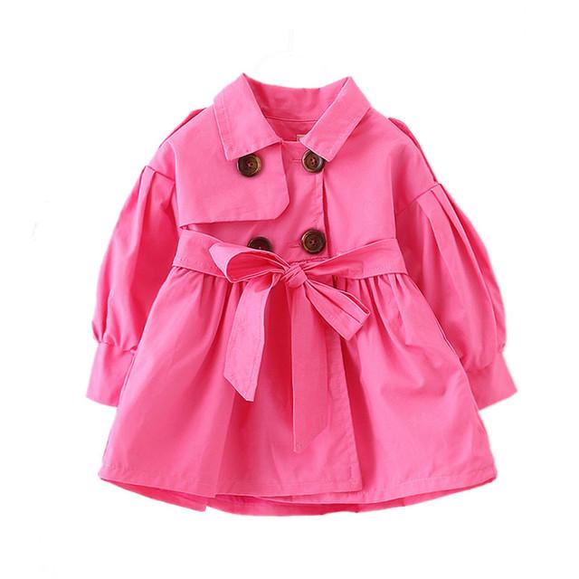 Primavera Outono 1-4 T Baby Girl Jaqueta Doces Cor Meninas Blusão Manga Lanterna Crianças Casaco Crianças Jaquetas Infantis Outerwear