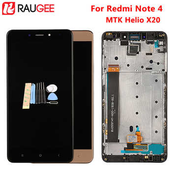For Xiaomi Redmi Note 4 LCD+Touch Screen With Frame New Digitizer Assembly Replacement For Xiaomi Redmi Note 4 MTK Helio X20 - DISCOUNT ITEM  35% OFF Cellphones & Telecommunications