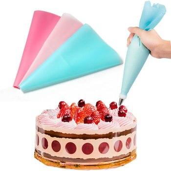 1 Uds reutilizable de glaseado de crema de flor apretada bolsas boquilla herramienta de panadería y pastelería 3 colores disponibles