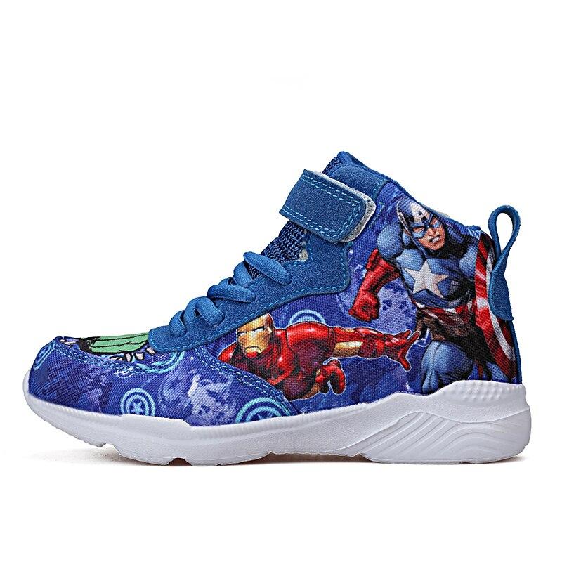 Kids Shoes Boy Tenis Infantil Children Sneakers Sapato Infantil The Avengers Child Cocuk Ayakkabi Chaussure Enfant Basket Garcon