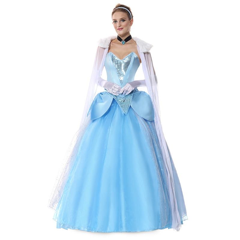 Home Cinderella Dress Princess Sophia Costume Woman Sexy Halloween Costumes For Women Adult Purple Fancy Cosplay Costume Dresses