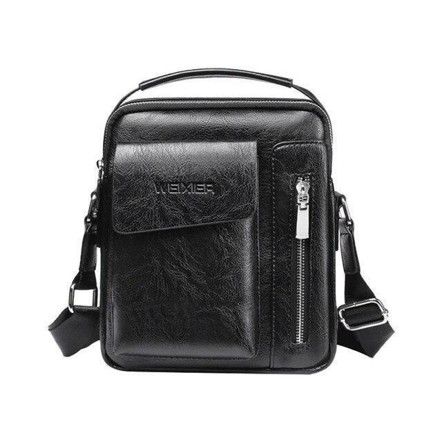 Vintage Crossbody Men's Shoulder Bag Pu Leather Messenger Bag Men's Bag Vintage Zip Men's Handbag Dropship Y424