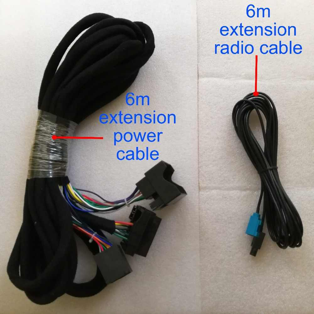 small resolution of wiring harness 6m power radio extension cable for our android 8 0 octa core bmw e39