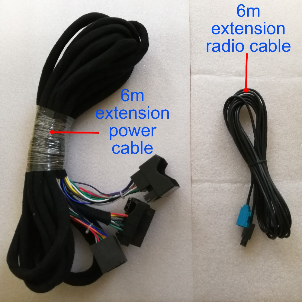 Wiring Harness 6m Power Radio Extension Cable For Our Android 8 0 Octa Core Bmw E39  E53 X5  E46