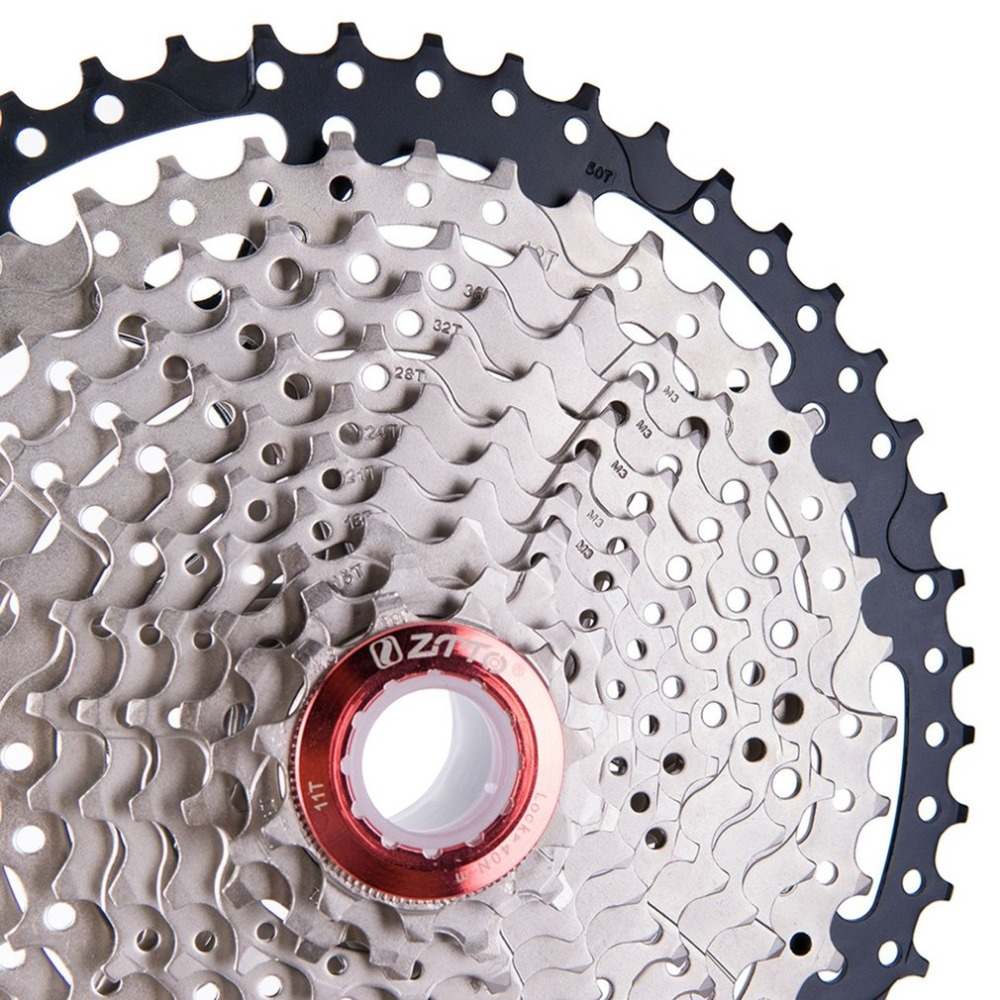 ZTTO 11 vitesses Cassette 11-50 T Compatible vélo de route système Sram haute résistance en acier pignons pliant noir argent engrenage - 3
