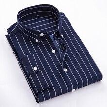 fashion 2018 new three quarter mens dress shirts striped good quality breathable male shirt styles