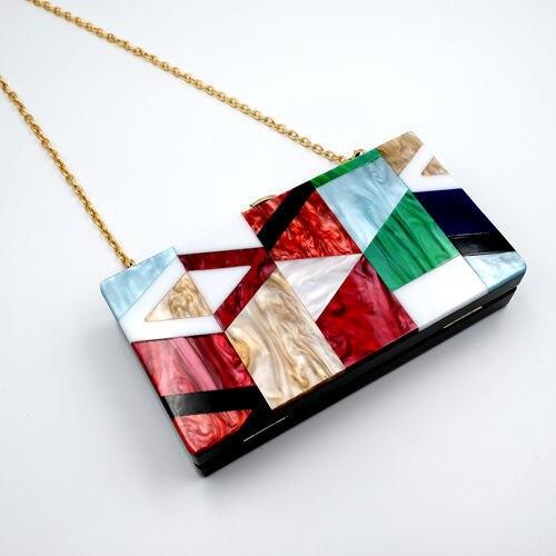 Сумка 2018 новая модель сумка на одно плечо модная для девочек Цветная Акриловая сумка кошелек клатч вечерние женские сумки
