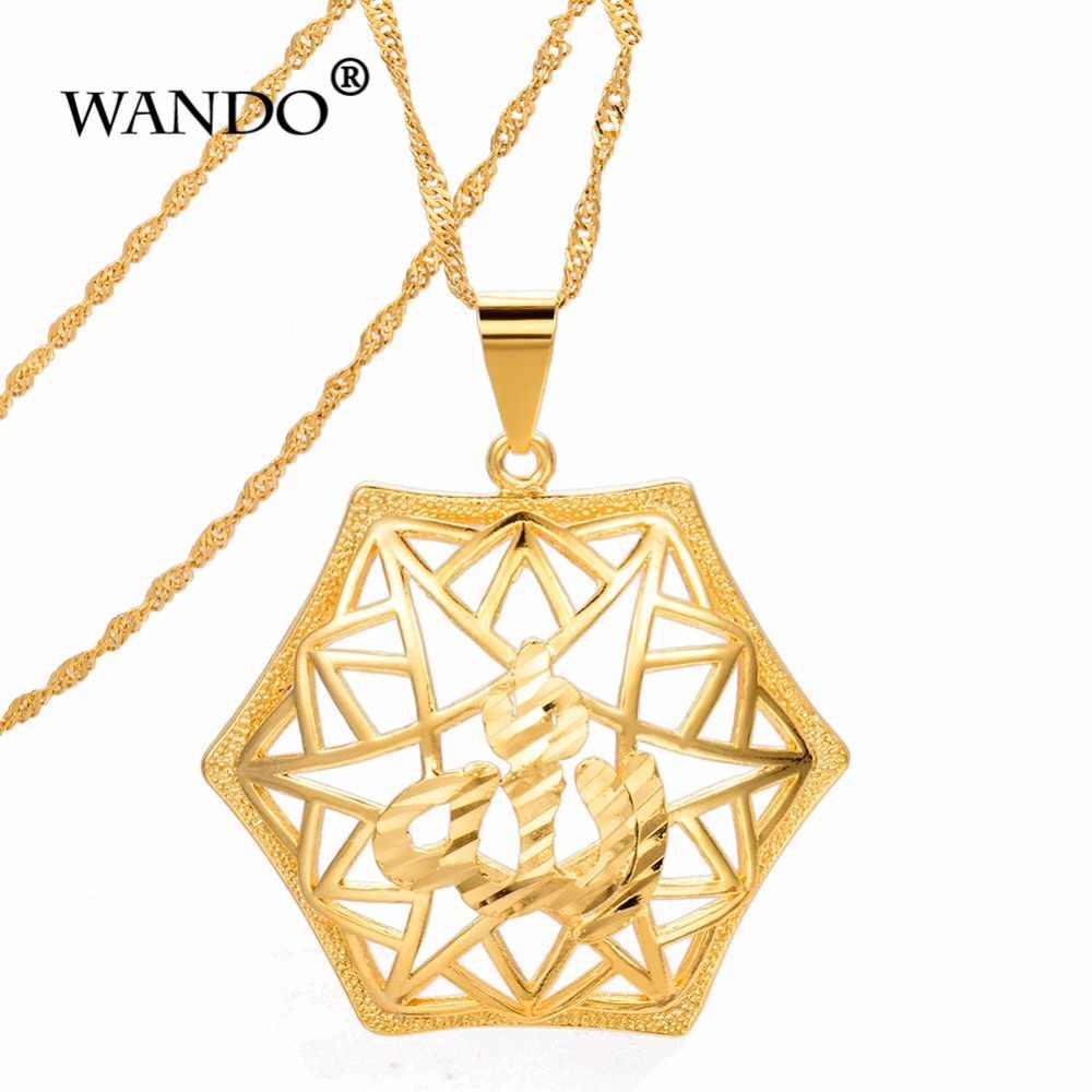 WANDO шестиугольная золотое ожерелье с подвеской King Давида подвеска в Эфиопия Африка, Дубай ювелирные изделия p38