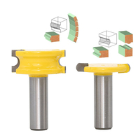 HILDA 2pcs Arc Mortise Woodworking Cutter 1 2 Diameter Canoe Flute And Bead Router Bit Sets