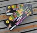 Envío gratis 2 unids/lote bandas telar conjunto diversión Loom gomas Kit DIY pulseras de colores niños juguete de regalo pulsera del encanto del brazalete