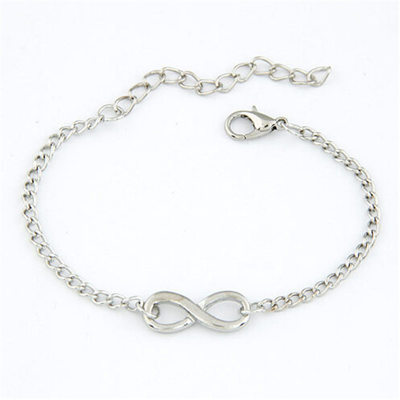 0c489afc26c92 US $0.5 40% OFF|Fashion Pulseras Bijoux Women 8 Infinity Bracelet For Men  Jewelry Girl Gift Charm Bracelets Gifts Accessories-in Chain & Link ...