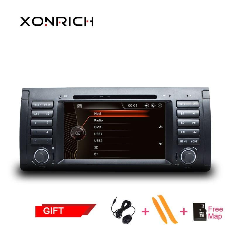 1 AutoRadio lecteur DVD de voiture Din pour BMW X5 E53 BMW E39 M5 2002-2004 2007 Multimeida Audio GPS Navigation magnétophone unité de tête