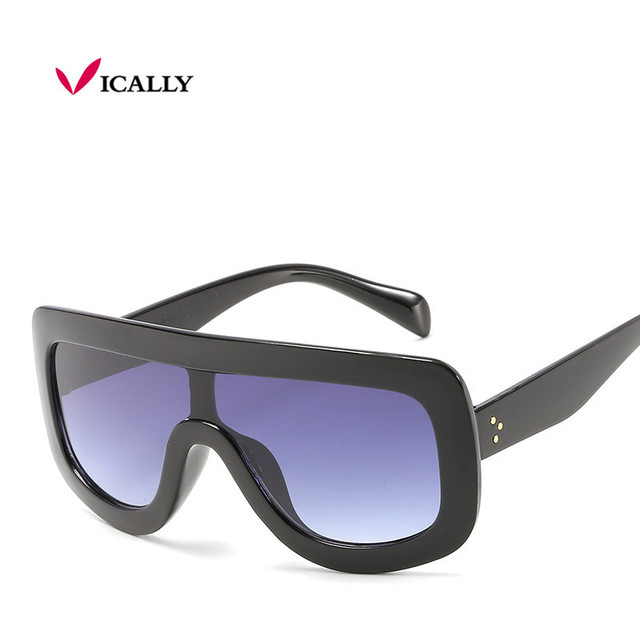 Newest Unique Women Sunglasses Square Glasses Vintage Big Frame Sun Glasses Gradient Eyeglasses UV400 dUyOrQS