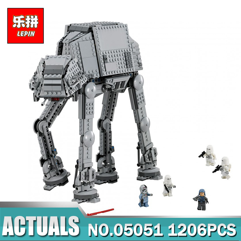 Lepin 05051 Star War Series Force Awaken The AT-AT Transpotation Armored Robot Building Blocks Bricks Compatible legoed 75054 at the gates at the gates at war with reality 180 gr