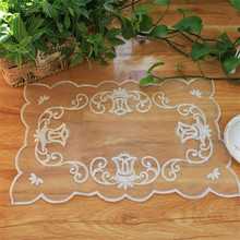5 Pieces Lace Flower Table Mat Hollow Doilies Coffee Cup Pad Placemat Kitchen Accessories Dining Modern Room Decora