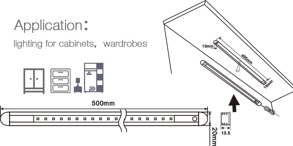 Neweat PIR Sensor Lamp 50cm 24Leds 5050 Sense Intelligent Light - Pencahayaan LED - Foto 6