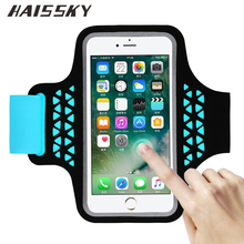 HAISSKY Phone Arm Band For iPhone 8 6 6S 7 Plus For Samsung Galaxy Note 8 S6 S7 Edge S8 For Xiaomi Redmi 4x Sports Arm Band Case