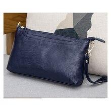 جلد طبيعي عالية الجودة المرأة حقيبة ساعي السوار يوم حقيبة صغيرة الكتف الإناث حقيبة كروسبودي السيدات مخلب محفظة صغيرة