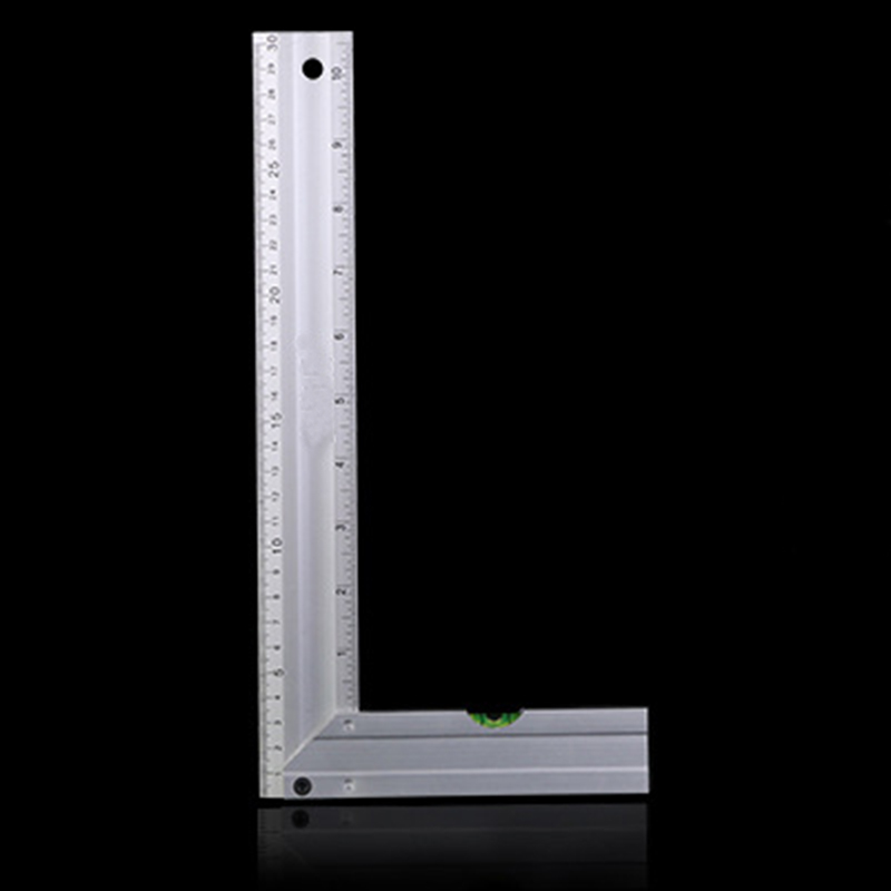 цена на 30cm Portable Stainless Steel Bladed 90 Degree Angle Ruler Precision 0.02mm Grade 0 Measuring Tool Square Ruler