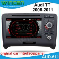 7 Car DVD GPS Player for Audi TT 2006 2011 with GPS IPOD A2DP USB SD DVD RADIO SWC PHONE BOOK Dual Zone free shipping & map