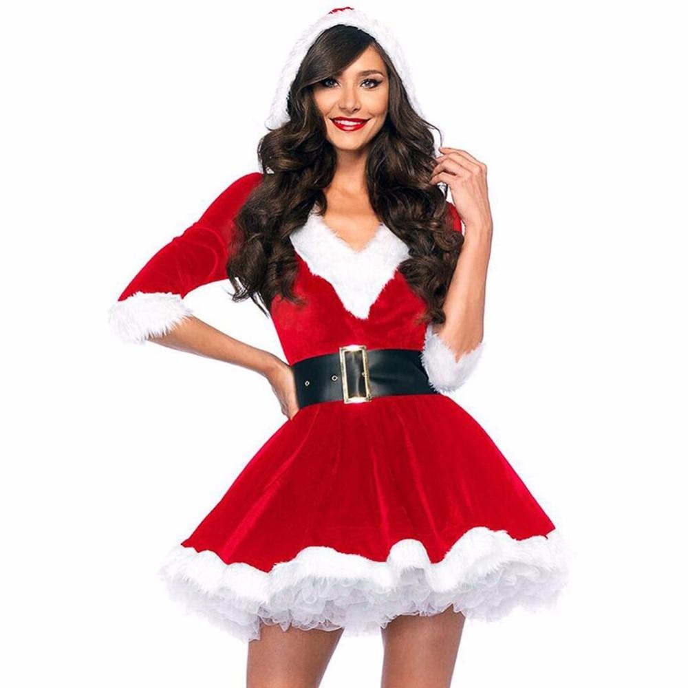 Newest 2016 Women's Miss Sexy Santa Costume Mrs Christmas ...
