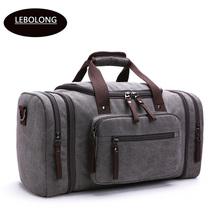 2019 New Arrival Duffel Bags Canvas tote Men #8217 s Casual Trip Package Carry on Luggage Bags Unisex Large Bags Solid Travel bags cheap 23cm 1 30kg Soft zipper 30cm Versatile lebolong 25cm 8642 Travel Duffle Fashion