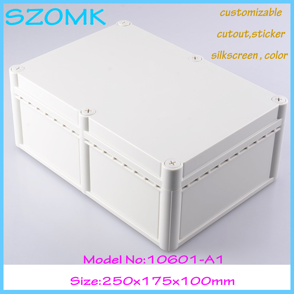 IP68 wall mount plastic waterproof enclosure abs plastic electrical enclosure plastic box junction electronic 1 piece high quality abs plastic junction box ip68 waterproof level circuit housing led power supply enclosure 238 84 60 mm