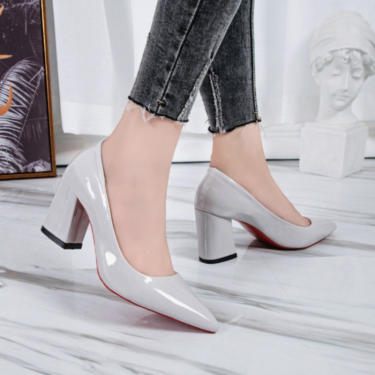 High-Heels Thick Single-Shoes Sexy Large-Size Women's Size-41 Fashion European And American