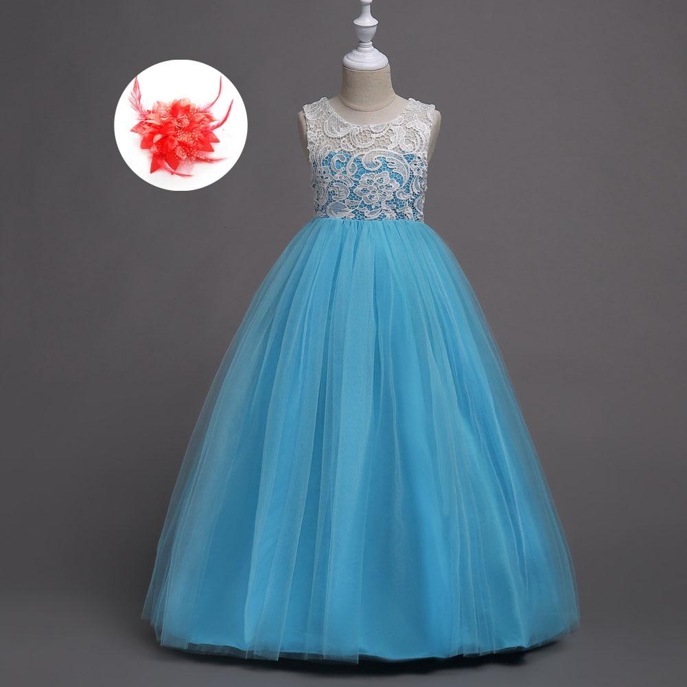 White Red Lavender Pink Yellow Blue Wedding Dress Girls Clothing ...