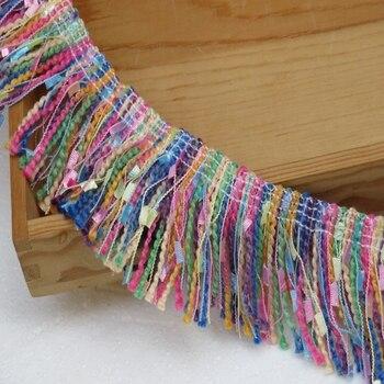 Glands dentelle multicolores à franges 2 mètre/lot | Vêtements en dentelle/rideau, jupe bord col sur le côté, 5.5CM