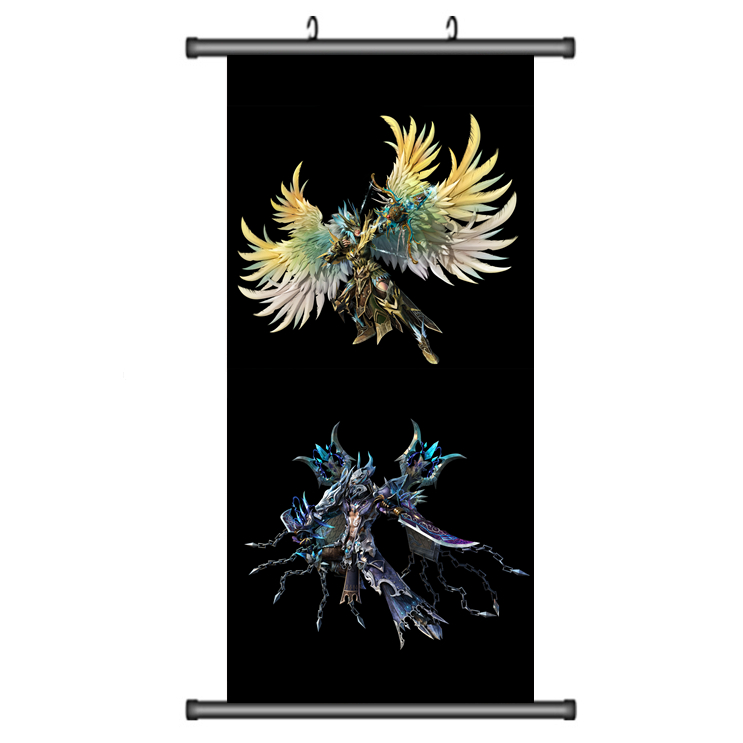 45X95CM Fairy Tail Feari Teiru Natsu Lucy Happy Japan Cartoon Anime wall scroll picture mural poster art cloth canvas paintings