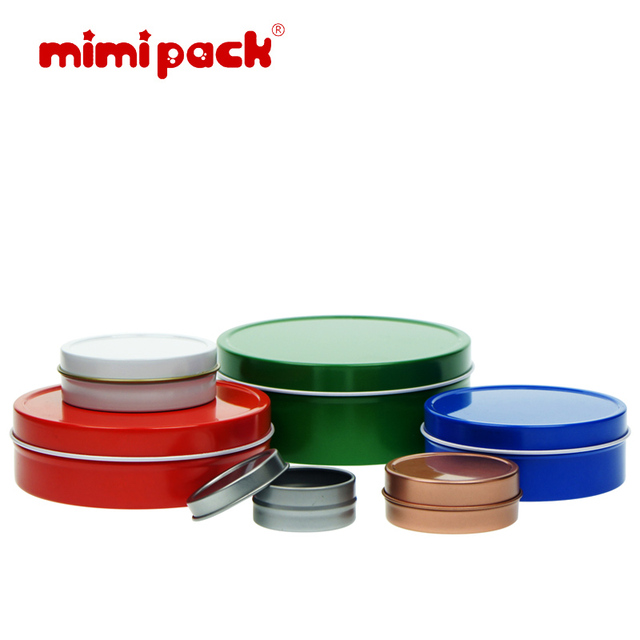 Mimi Pack 4 Oz Round Tin Can Empty Slip Top Lid Steel Containers For  Cosmetics,