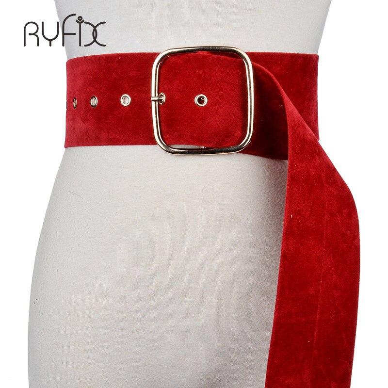 Fashion Simple Alloy Buckle Female Belt Genuine Leather Wide Belts For Women Match Dress Cummerbunds Clothes Ceinture BL201820