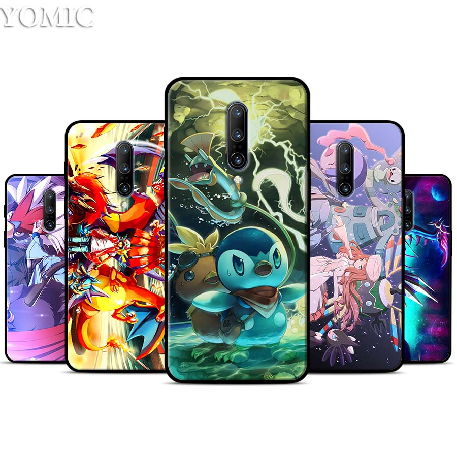 Pocket Monsters Silicone Case for font b Oneplus b font font b 7 b font 7Pro