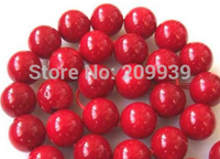 FREE SHIPPING>>>@@ N196 13mm Ocean Red Coral Round Loose Beads 15