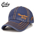 New High Quality Fashion Adult Casual Denim Baseball Cap men women  Gorras Letter Embroidery Snapback Cap Outdoors Sun Hat B-075