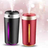 380ML Ultraschall luftbefeuchter USB Aromatherapie Öl Diffusor Mini Air Purifier Zerstäuber Hause Nebel Maker Mit 7 Farben Lichter-in Luftbefeuchter aus Haushaltsgeräte bei