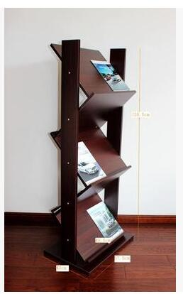 A Wooden Magazine Rack. Newspaper Rack. Office Book Rack. Propaganda Frame  Display.