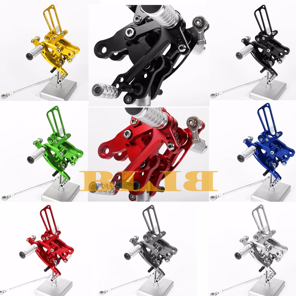 8 Colors For Honda CBR400RR NC29 1993-1999 CNC Adjustable Rearsets Rear Set Motorcycle Footrest Moto Pedal 1994 1995 1996 1997 brake pads ceramic for front rear honda cbr 400 rr nc29 gull arm 1990 1994 oem new high quality zpmoto