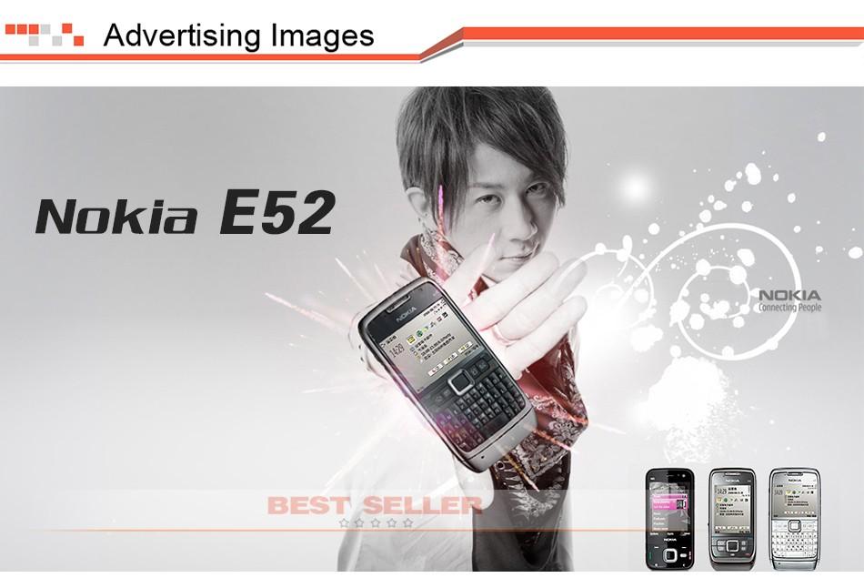 Refurbished phone Original Unlocked Nokia E52 GSM WCDMA cell phone Wifi Bluetooth GPS 3.2MP Camera black 1