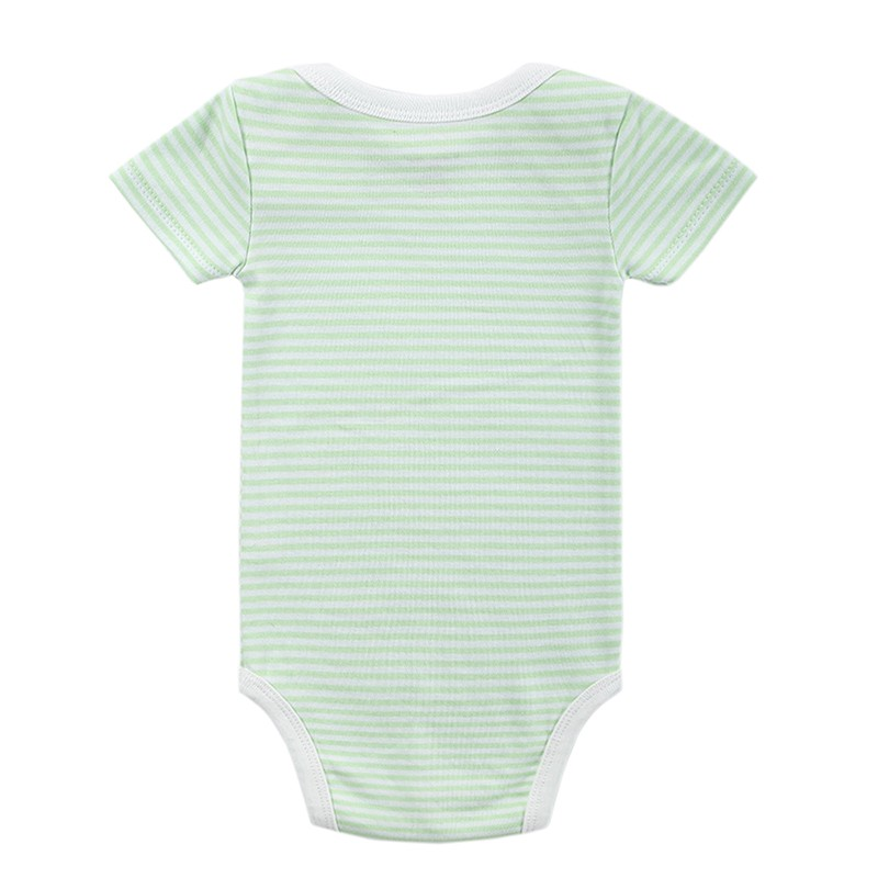 3 Pieceslot Baby Fashion Striped Short Sleeve Rompers Children Jumpsuit Newborn Boys Girls Clothes Body Roupa de Overalls (70)