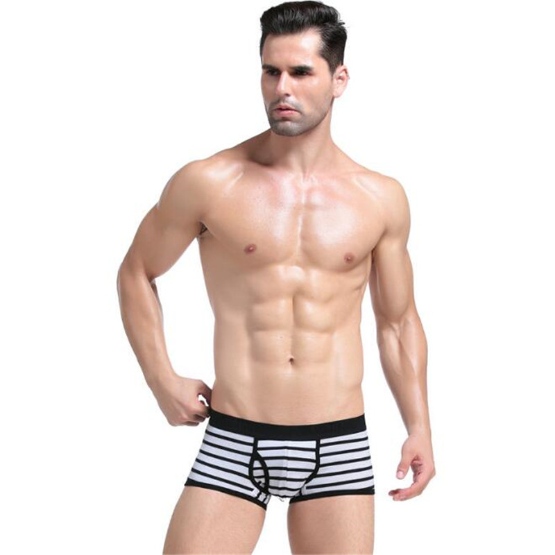 Men's Underwear,Cotton Underwear,Classic Striped Men's Underwear,Boxer Shorts Underwear