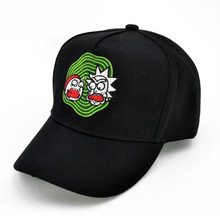 Rick and Morty New Khaki Dad Hat Crazy Baseball Cap American Anime Cotton Embroidery Snapback lovers Men Women