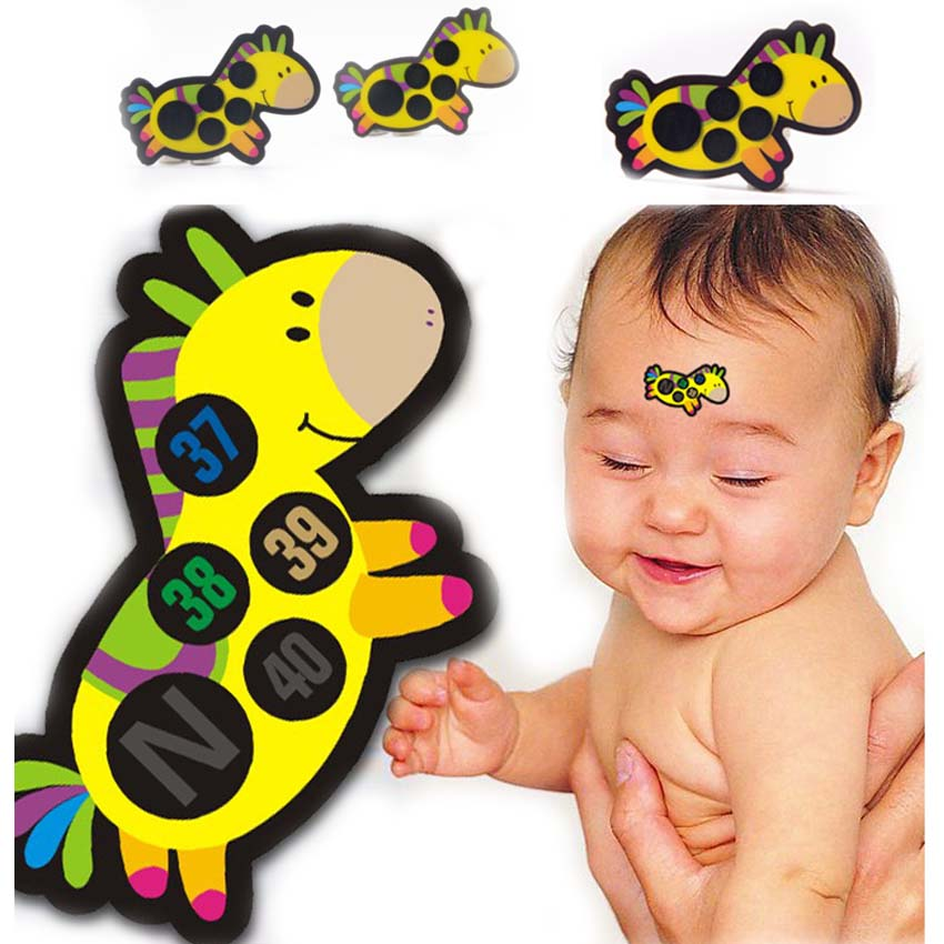 4pcs Baby Children Forehead Temperature Gauge Clinical