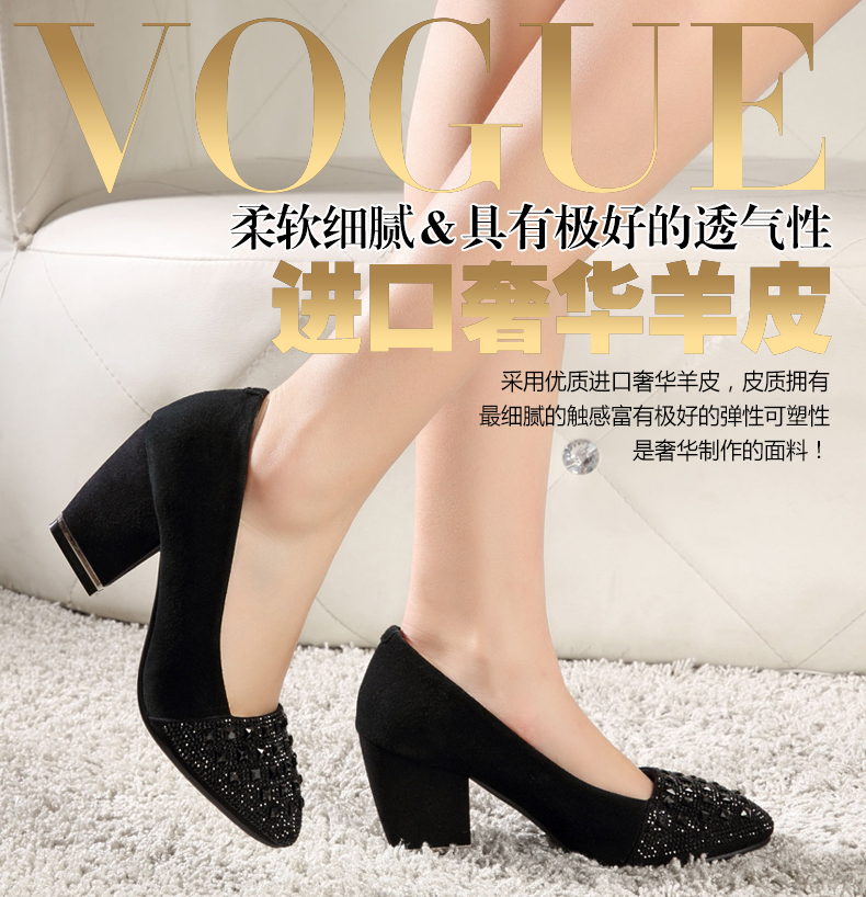 ФОТО Hotsaling! 2017 new spring single shoes punk platform shoes female genuine leather diamond shoes thick heel pumps WFB-23Y 35-39