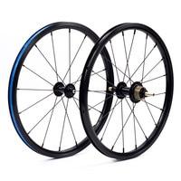 bike Wheelset 1 3 Speed 16 x1 3/8 349 kinlinnbr rim 14H/21H 16H 20H for 3sixty Brompton Ultralight Folding Bike wheels 800g