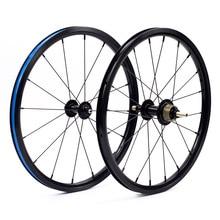 Велосипед плоский пресс-набор 1-3 скорости 16×1 3/8 «349 kinlinnbr обод для 3sixty Brompton Сверхлегкий складной велосипед колеса 800 г 14 H/21 H