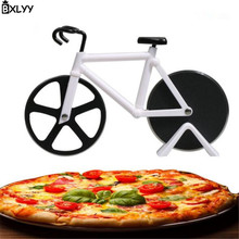 BXLYY Creative Bicycle Pizza Knife Stainless Steel Two-wheeled Cheese Tool Home Decoration Party Decoration.8z