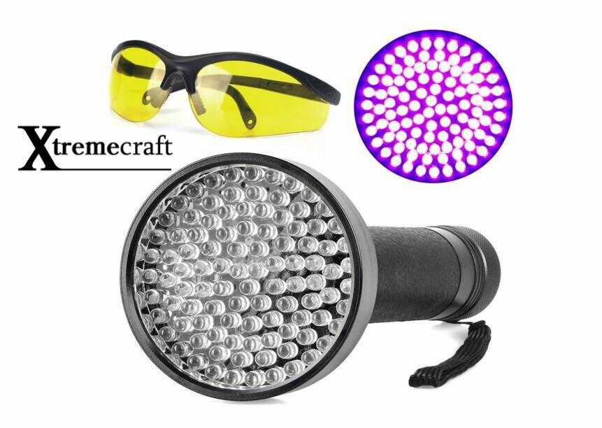 100 UV luz negra 395nM linterna LED para detectores de orina de mascotas gato escorpión funciona con batería protección UV gratis gafas de sol de seguridad 100% nuevo y original, garantía de 90 días SKM150GB128D